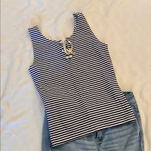 Hollister lace front tank top, s